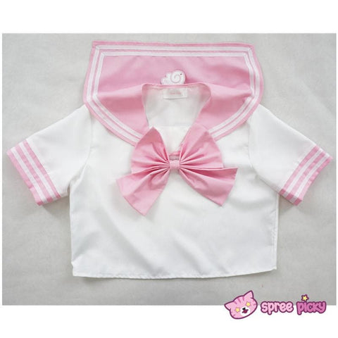 Daily Cosplay [Sailor Moon]Sailor Chibi Moon Chibi Usa Pink Seifuku Unfirom Top/Skirt/Bow - SpreePicky  - 6