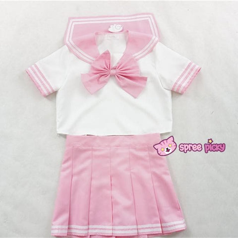 Daily Cosplay [Sailor Moon]Sailor Chibi Moon Chibi Usa Pink Seifuku Unfirom Top/Skirt/Bow - SpreePicky  - 5