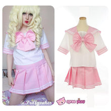 Load image into Gallery viewer, Daily Cosplay [Sailor Moon]Sailor Chibi Moon Chibi Usa Pink Seifuku Unfirom Top/Skirt/Bow - SpreePicky  - 1