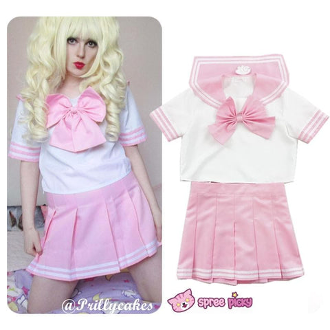 6 colors Daily Cosplay [Sailor Moon Series] Sailor Seifuku Uniform Set - SpreePicky  - 4