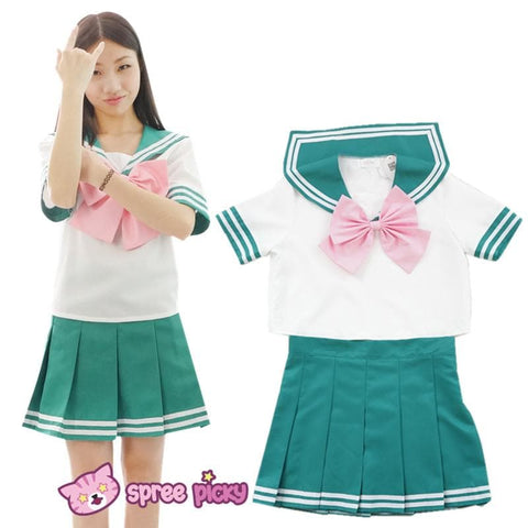 6 colors Daily Cosplay [Sailor Moon Series] Sailor Seifuku Uniform Set - SpreePicky  - 7