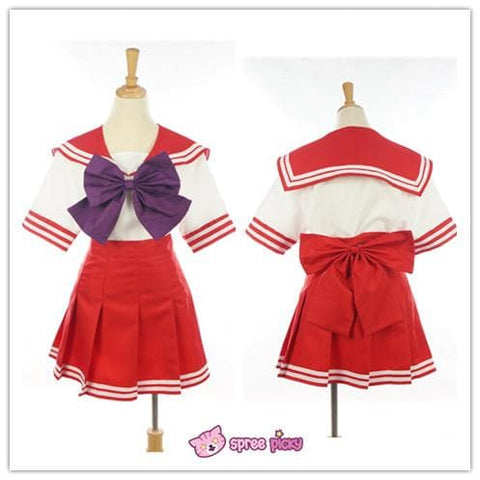 Daily Cosplay [Sailor Moon] Sailor Mars Hino Rei Red Seifuku Unfirom SP151743-SP151744 - SpreePicky  - 5