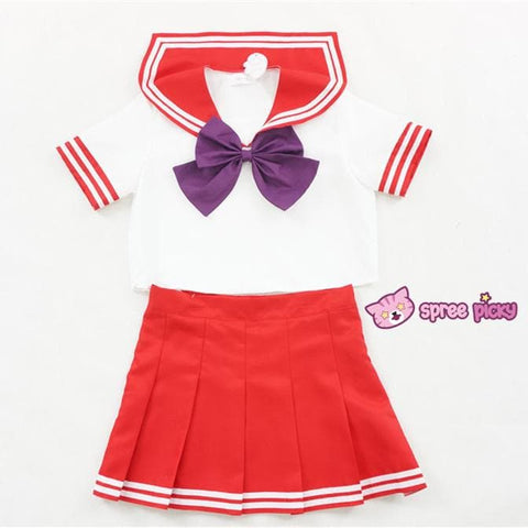Daily Cosplay [Sailor Moon] Sailor Mars Hino Rei Red Seifuku Unfirom SP151743-SP151744 - SpreePicky  - 4