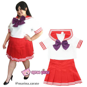 Daily Cosplay [Sailor Moon] Sailor Mars Hino Rei Red Seifuku Unfirom SP151743-SP151744 - SpreePicky  - 1