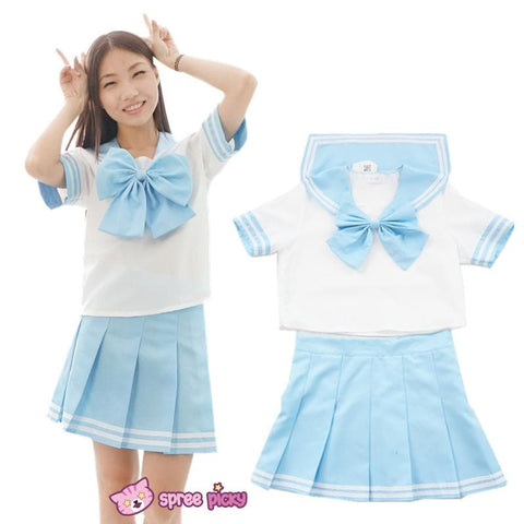 6 colors Daily Cosplay [Sailor Moon Series] Sailor Seifuku Uniform Set - SpreePicky  - 5