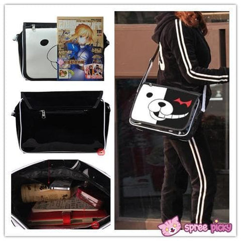 Dangan Ronpa Principal Monokuma Black/White Bear Bag Shoulder Bag SP151692 - SpreePicky  - 5