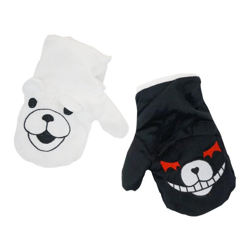 Dangan Ronpa Principal Monokuma Black/White Bear Fleece Gloves SP141497 - SpreePicky  - 1