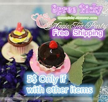 "Super cute ""Magic tea party"" Adjustable Cupcake Cake Lolita Ring SP130176 - SpreePicky  - 2"