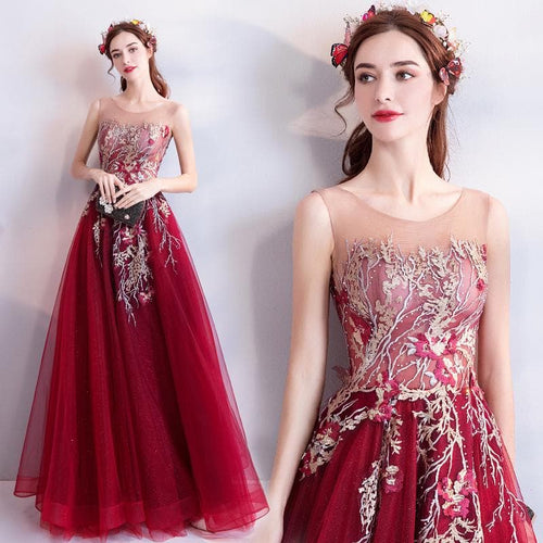 Elegant Ball Gown Lace Embroidery Dress