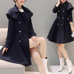 Elegant Midi Woolen Coat Jacket SP1710803