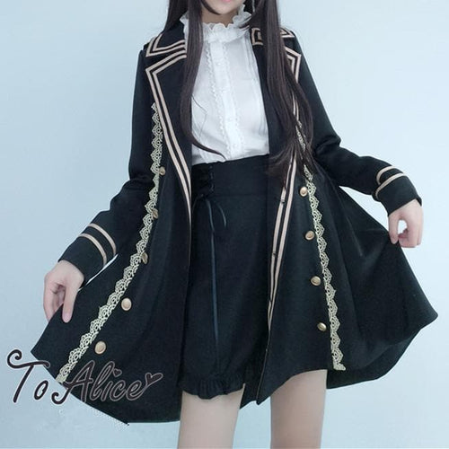 {Best Quality Version}Elegant Military Lolita Jacket Coat