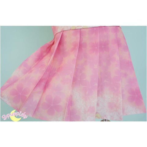 [S-XL]J-Fashion Pink Sakura Sailor Seifuku Top and Skirt Set SP151631 - SpreePicky  - 10