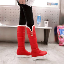 Load image into Gallery viewer, [Ready Stock] Black/White/Red Faux Fur Winter Warm Boots SP310 - SpreePicky FreeShipping