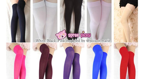 15 Colors Cosplay Basic Pure Color Thigh High Stocking SP130234 - SpreePicky  - 2