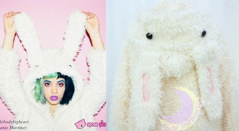 Kawaii Rabbit Long Ears Fluffy Coat High Quality -COAT only SP130089 - SpreePicky  - 2