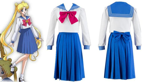 [Sailor Moon] Tsukino Usagi/Mizuno Ami Sailor Seifuku Uniform Set SP151723 - SpreePicky  - 3