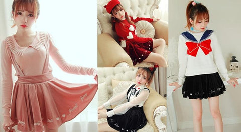 S/M 3 colors Kawaii Strap Skirt SP153332 - SpreePicky  - 2