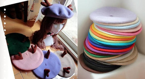 24 colors Antlers Beret Hat SP153408 - SpreePicky  - 3