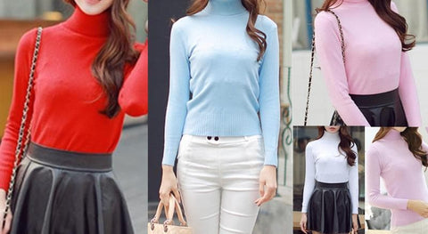 5 Colors Turtleneck Sweater SP152605 - SpreePicky  - 2