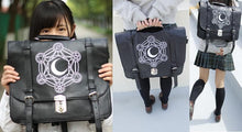 Load image into Gallery viewer, Gothic Retro Dark Magic 3 ways Backpack SP153641 - SpreePicky  - 2