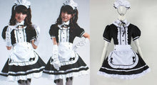 Load image into Gallery viewer, Lolita Cosplay BlacK Maid Dress With Apron  SP141076 - SpreePicky  - 2