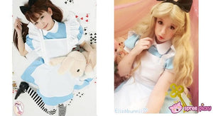 M/L [Alice In Wonderland] Blue Maid Dress With Apron Cosplay Costume SP141195 - SpreePicky  - 3