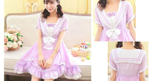 Pasetl Purple Lolita Sailor Dress SP152926 - SpreePicky  - 3