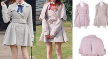 Load image into Gallery viewer, [Reservation] S/M/L Pink/Grey Retro England Style Cape Coat SP153644 - SpreePicky  - 2