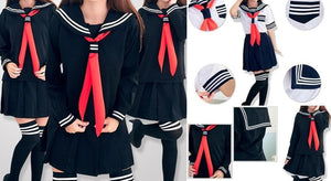 S-XL 3 colors Sailor Seifuku School Uniform Set SP153570 - SpreePicky  - 2