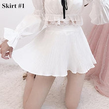 Load image into Gallery viewer, Fairy Off-Shoulder Lace Shirt/Pleated Skirt SP14341 - SpreePicky FreeShipping