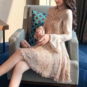 Fairy Tassel Chiffon Sleeve Dress SP13459