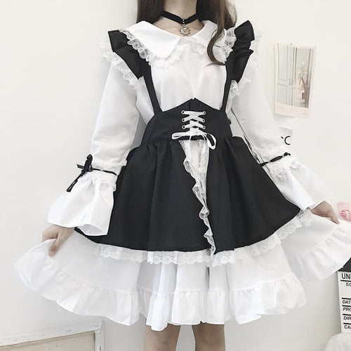 Falbala Lace Lolita Maid Dress SP14267