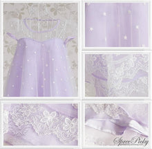 Load image into Gallery viewer, M-XL Fantasy Girly Stars Lace Joint Cake Dress SP130329 - SpreePicky  - 4