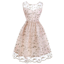 Load image into Gallery viewer, Floral Embroidery Lace Dress SP13854
