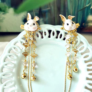 Fox Rabbit Hairpin Tassels Hair Clip SP15135