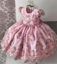 Load image into Gallery viewer, Girls Princess Kids Dresses for Girls Tutu Lace Flower Embroidered Ball Gown Baby Girls Clothes Children Wedding Party Dress - SpreePicky FreeShipping