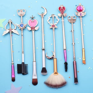 Golden/Light Golden Sailor Moon Makeup Brush Set SP1711357