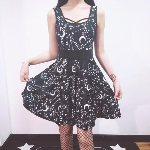Goth Dark Elegant Grunge Gothic Dress SP14261