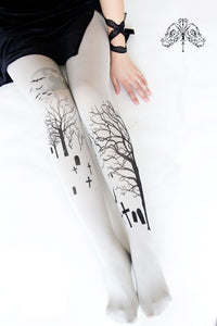 Final Stock! Gothic Lolita Printing Tights S12951