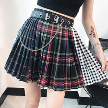 Load image into Gallery viewer, Gothic Matching Grid Skirt S12763