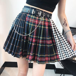 Gothic Matching Grid Skirt S12763