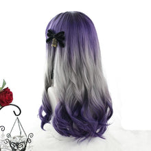 Load image into Gallery viewer, Gradient Purple Grey Wave Long Wig SP14945