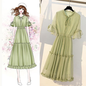 Green Fairy Falbala Bubble Dress SP14077