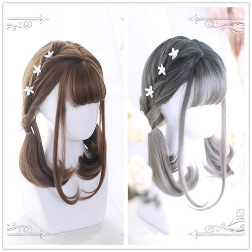 Grey/Brown Lolita 45cm Daily Wig SP1811801