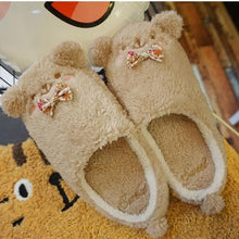 Load image into Gallery viewer, Grey/Pink/Brown Kawaii Animals Fluffy Slippers SP1710932