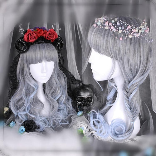 Grey Blue Fairy Princess Wig SP1811664