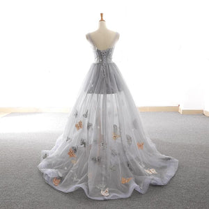 Grey Sweet Star Maxi Tulle Dress SP14434