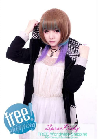 HARAJUKU Lolita mulitcolor young girl short wig SP130186 - SpreePicky  - 1