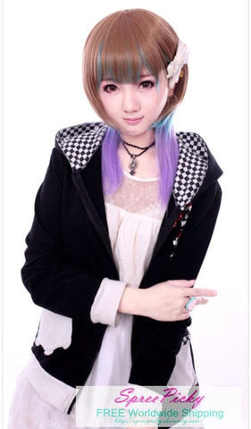 HARAJUKU Lolita mulitcolor young girl short wig SP130186 - SpreePicky  - 3