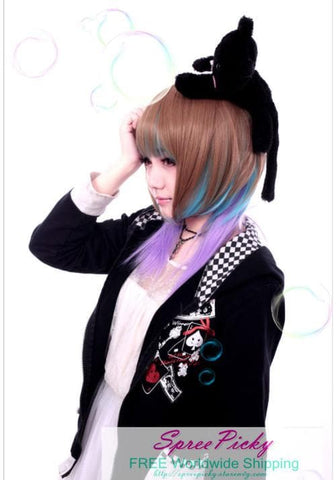HARAJUKU Lolita mulitcolor young girl short wig SP130186 - SpreePicky  - 5